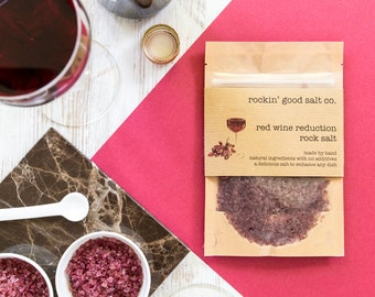 Rock Salt infused with Red Wine Reduction 70g