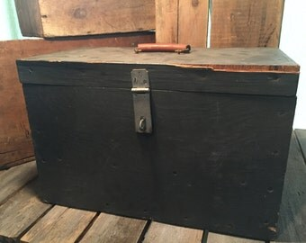 wooden tool box etsy. vintage wooden box/wooden box/vintage tool box/wood toolbox box etsy