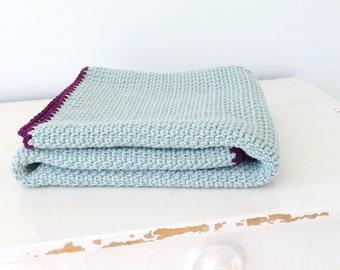 Blanket soft blue