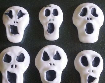 Halloween skull ghost fondant cake decoration topper