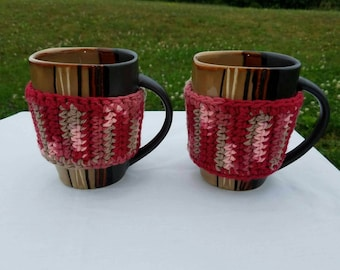 Set of 2 Coffee cup cozie