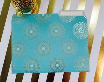 Anna Griffin Turquoise Collection - 12 File Folders