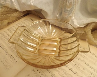 Flat glass Pearl, Bowl, Bowl, Vintage, glass Orange - Made in France 1960