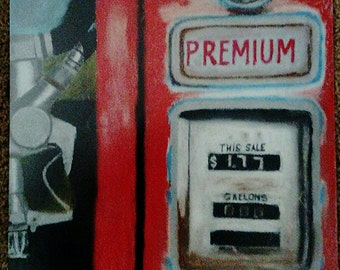 Vintage Gas Pump Art Print
