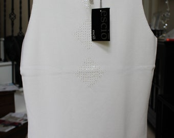 OPENING SALE New with Tags Vintage white Mockneck top