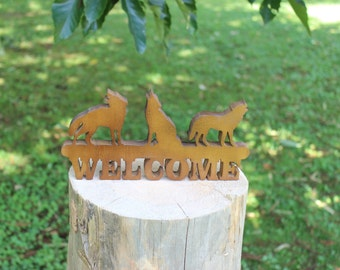 Wolf Welcome Sign
