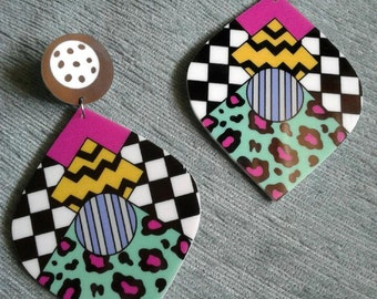 Colorful Retro Earrings
