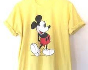 Mickey Mouse Vintage 1970's Design T-Shirt