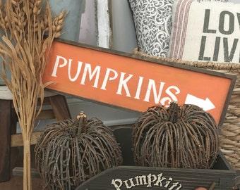 Pumpkins Distressed Sign