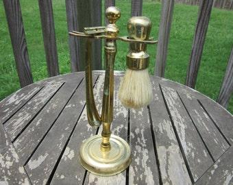 Vintage Brass Shaving Kit