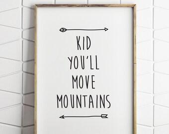 dr seuss quote, dr seuss printable, move mountains quote, move mountains printable, dr seuss wall decor, dr seuss wall art