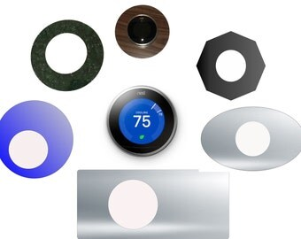 Nest Thermostat - Custom laser cut size, shape and color wall plate