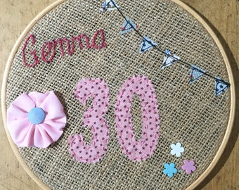 Embroidery Hoop Gift Birthday Special Occasion