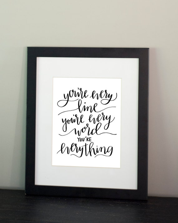 You're Everything / Wall Art / Fine Art Print / Instant Digital Download