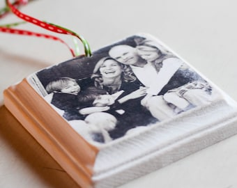 Handcrafted Wooden Photo Ornaments