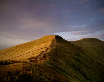 Landscape photography - Pen y Fan at Sunset. 35mm Analogue Photograph Print gallery quality