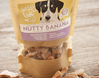 Nutty Banana Homemade dog treats  • Dog Biscuits
