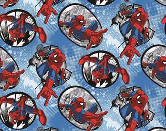 Marvel Comics Spiderman Badge Fabric From Springs Creative