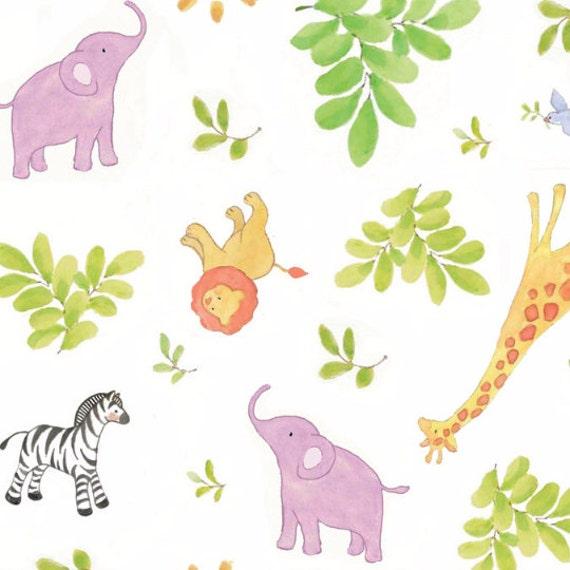 Nursery safari baby toss fabric from springs creative from for Safari fabric for nursery