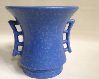 Rum Rill Chinese inspired Blue Speckle Pot