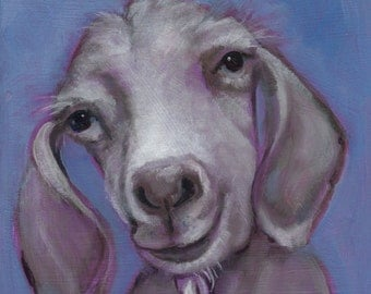 Gertie the Goat, Oil Painting