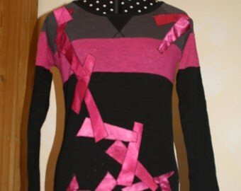 Long-sleeved shirt, designer shirt, SecondFace: Crazy box on the edge, size 36 / 38