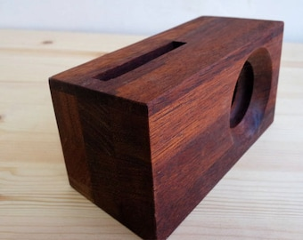 Acoustic Wood Amplifier Speaker for iPhone & Galaxy