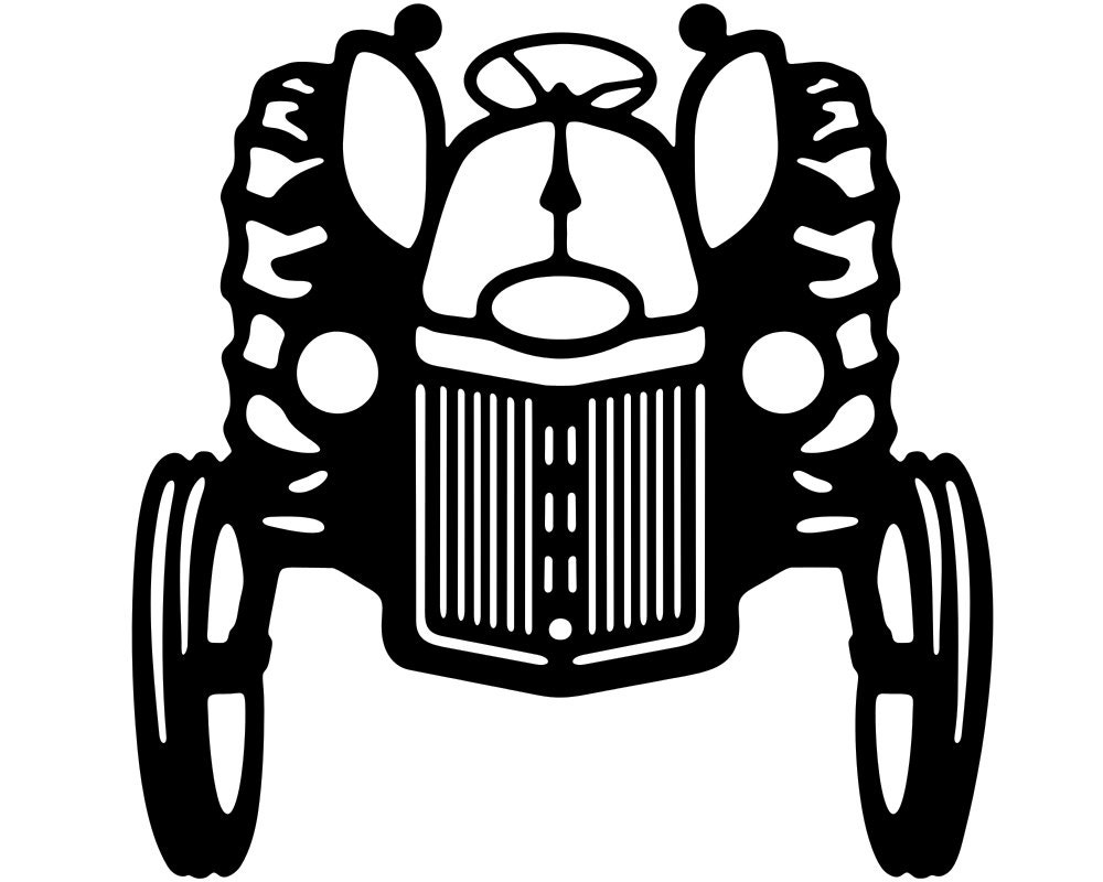 White Tractor Decals : Farm tractor vinyl window decal stickers wholesale