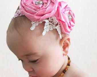 Double Rose Headband