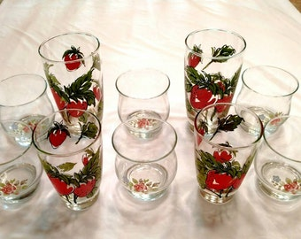 Vintage Collectable Water and Juice Glasses by Libby