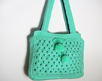 Mint Shoulder Bag and Purse Set