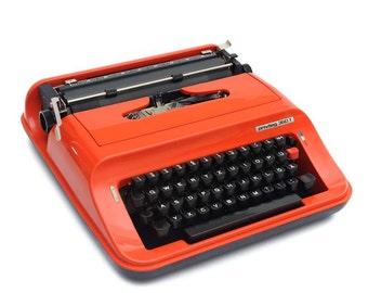 1970s typewriter Privileg 350T, tangerine