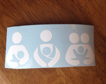 Breast feeding, Babywearing, Cosleeping Decal