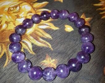 Amethyst Bracelet (Stretchy)
