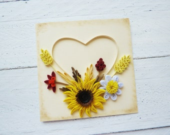 Quilled card/Wedding Card/Handmade card