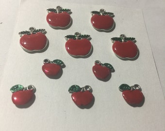 Hand Painted Apple Charms