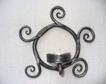 Forged tea candle holder