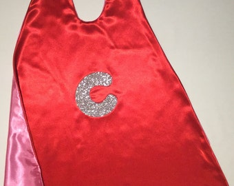 SuperHero Capes with Initial, Canadian hand made product
