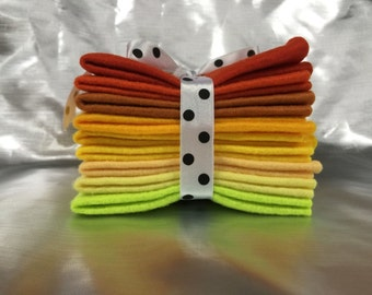 Mix Felt Craft Pack - Yellows and Oranges