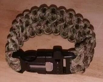 Flint Whistle Survival Paracord Bracelet by Erikord Survival