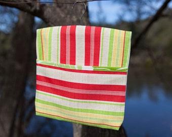 Peg Bag - Lime Stripe
