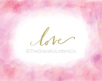 LOVE Digital Art Print