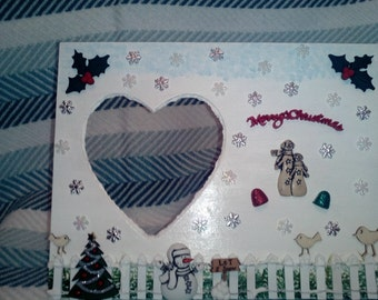 Merry Christmas ~ Wooden Picture Frame