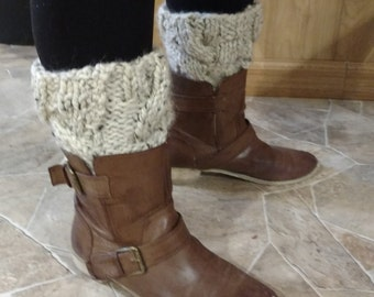 Chunky Cable Knit Boot Cuffs