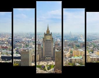 abstraction, modular pattern, topic: City 153х100 cm