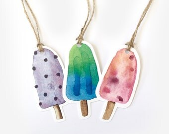Popsicle Gift Tag 5 Pack