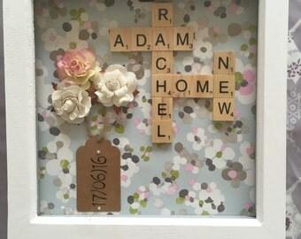 Handmade scrabble frame