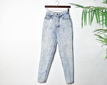 Vintage Acid Wash High Waisted Mom Jeans