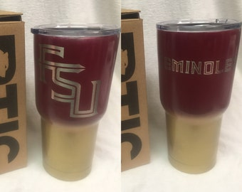 RTIC 20oz/30oz powder coated Florida State Seminoles two tone garnet and gold