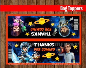 Miles from Tomorrowland Bags, Printable Miles from Tomorrowland treat Bags toppers, Miles from Tomorrowland party bags instant download